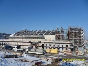 Aktuelles Bild vom 17. Februar 2015 über den Baufortschritt